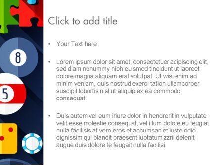Flat Design Game Items PowerPoint Template, Slide 3, 13967, Careers/Industry — PoweredTemplate.com