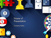 Careers/Industry: Flat Design Game Items PowerPoint Template #13967