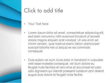 Azure Waves Abstract PowerPoint Template, Slide 3, 13968, Abstract/Textures — PoweredTemplate.com