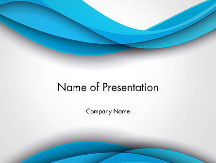Abstract/Textures: Azure Waves Abstract PowerPoint Template #13968