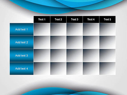 Azure Waves Abstract PowerPoint Template Slide 15