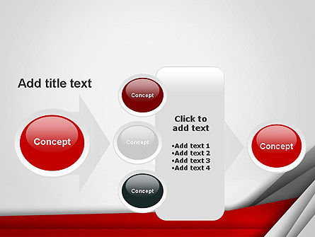 Folded Layers Abstract PowerPoint Template Slide 17