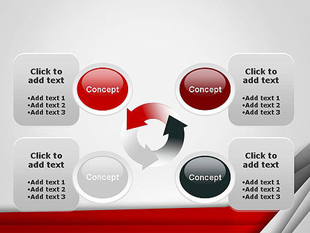 Folded Layers Abstract PowerPoint Template Slide 9