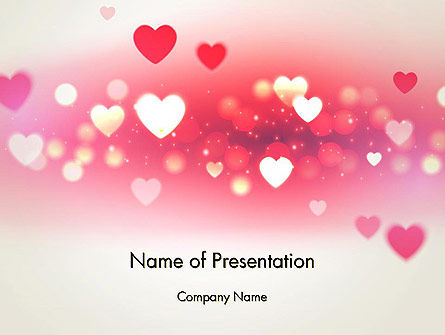 Holiday/Special Occasion: Pink Valentines Day PowerPoint Template #13973