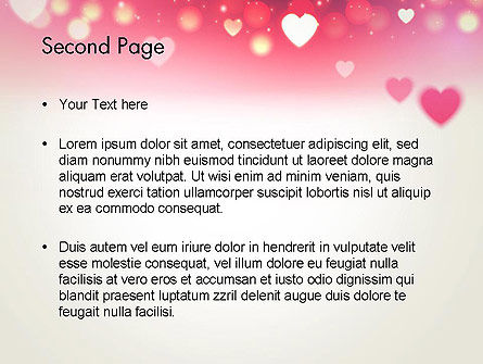 Pink Valentines Day PowerPoint Template, Slide 2, 13973, Holiday/Special Occasion — PoweredTemplate.com