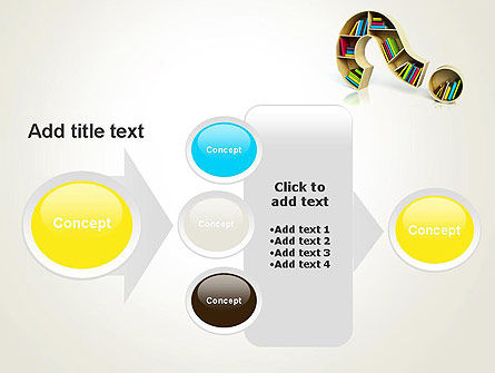 Question Mark With Books PowerPoint Template Slide 17