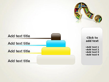 Question Mark With Books PowerPoint Template Slide 8