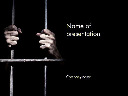Legal: Man in Prison PowerPoint Template #13975