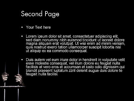 Man in Prison PowerPoint Template Slide 2