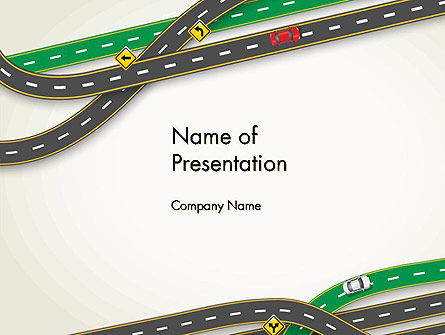 Cars and Transportation: Road Traffic PowerPoint Template #13976