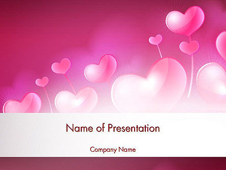 Holiday/Special Occasion: Fantasy Hearts PowerPoint Template #13977