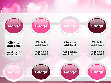 Fantasy Hearts PowerPoint Template Slide 18