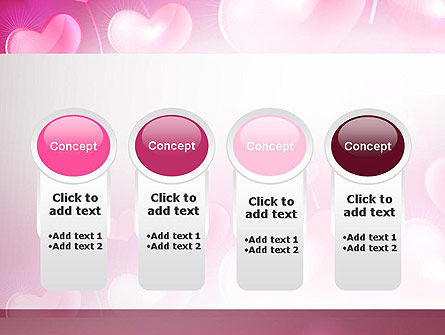 Fantasy Hearts PowerPoint Template Slide 5