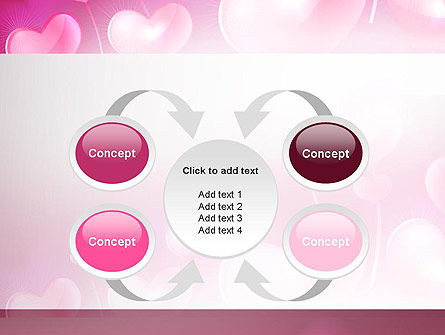 Fantasy Hearts PowerPoint Template Slide 6