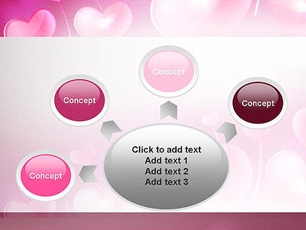 Fantasy Hearts PowerPoint Template Slide 7
