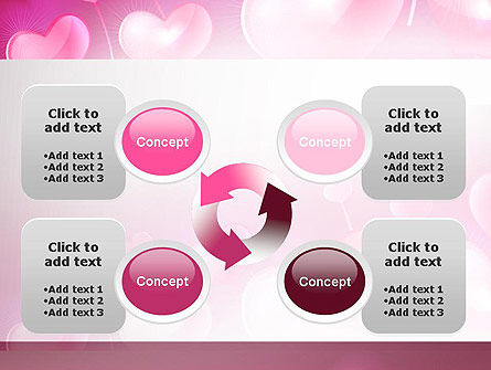 Fantasy Hearts PowerPoint Template Slide 9