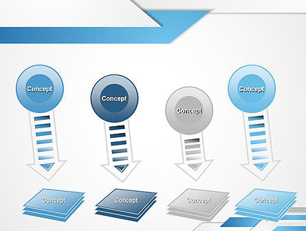Directed Layers Abstract PowerPoint Template Slide 8