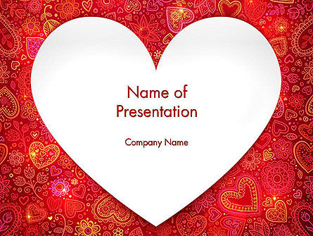Love Frame PowerPoint Template, Backgrounds | 13980 ...