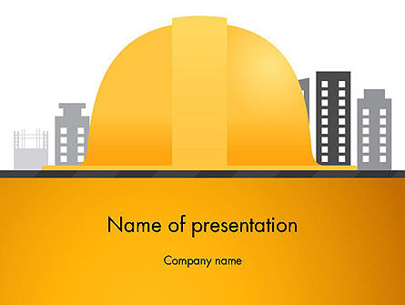 Construction: Constructing Theme PowerPoint Template #13982