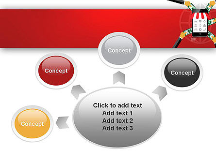 Online Mobile Purchases PowerPoint Template Slide 7