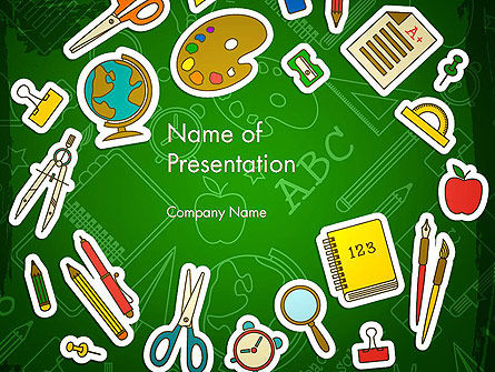 Educational Stuff PowerPoint Template, 13984, Education & Training — PoweredTemplate.com