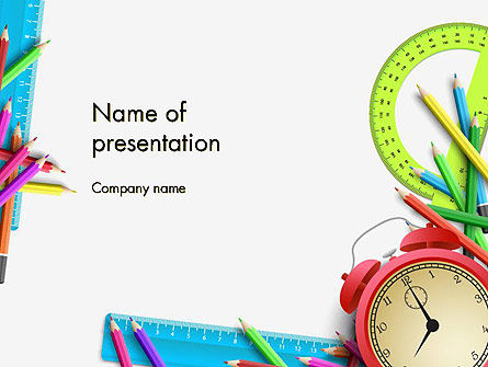 Education & Training: Time to Study PowerPoint Template #13988