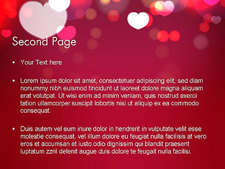 Love Pink PowerPoint Template Slide 2