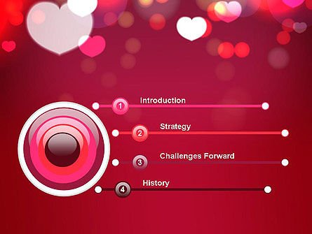Love Pink PowerPoint Template Slide 3