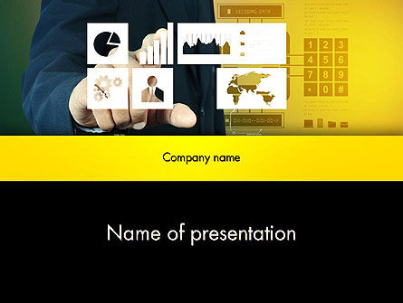 Touching Report Research Data PowerPoint Template
