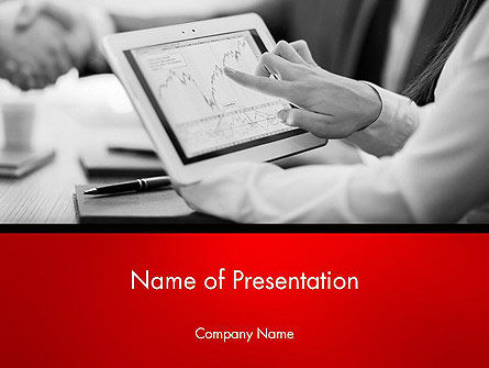 Financial/Accounting: Analyzing Financial Statistics PowerPoint Template #13991