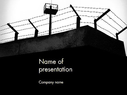Legal: Barbed Wire Fence PowerPoint Template #13993
