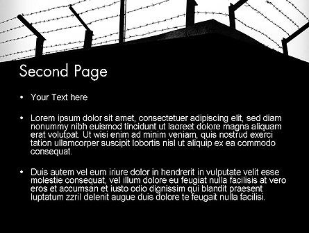 Barbed Wire Fence PowerPoint Template Slide 2