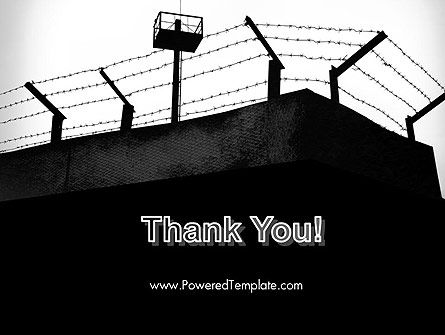 Barbed Wire Fence PowerPoint Template Slide 20
