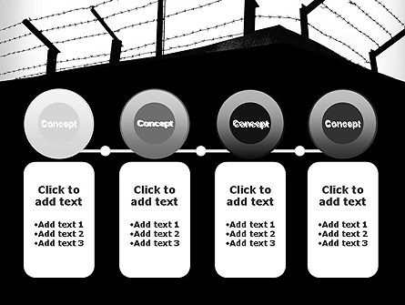 Barbed Wire Fence PowerPoint Template Slide 5