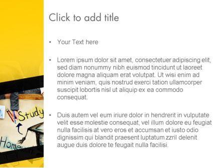 Studying Homework PowerPoint Template, Slide 3, 13994, Education & Training — PoweredTemplate.com