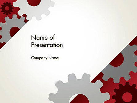 Utilities/Industrial: Cogwheels Gear Illustration PowerPoint Template #13996