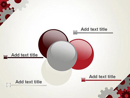 Cogwheels Gear Illustration PowerPoint Template Slide 10