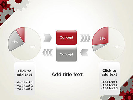 Cogwheels Gear Illustration PowerPoint Template Slide 11