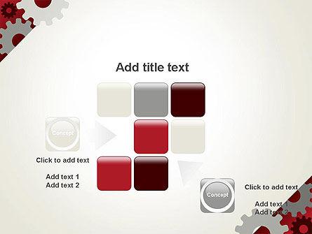 Cogwheels Gear Illustration PowerPoint Template Slide 16