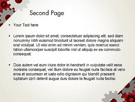Cogwheels Gear Illustration PowerPoint Template Slide 2