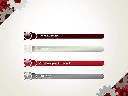 Cogwheels Gear Illustration PowerPoint Template Slide 3