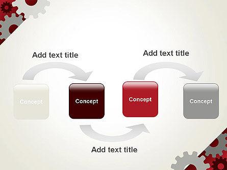 Cogwheels Gear Illustration PowerPoint Template Slide 4