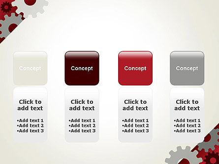 Cogwheels Gear Illustration PowerPoint Template Slide 5