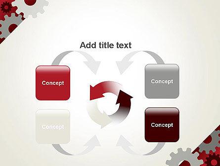 Cogwheels Gear Illustration PowerPoint Template Slide 6