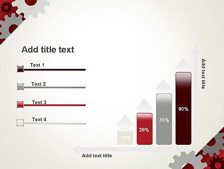 Cogwheels Gear Illustration PowerPoint Template Slide 8