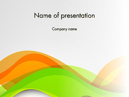 Abstract/Textures: Green and Orange Curves PowerPoint Template #13998