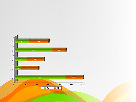 Green and Orange Curves PowerPoint Template Slide 11