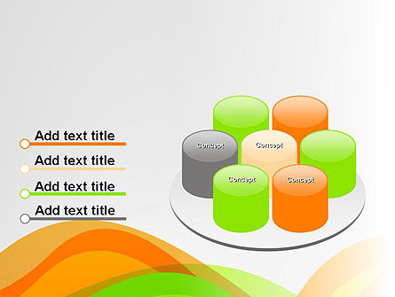 Green and Orange Curves PowerPoint Template Slide 12
