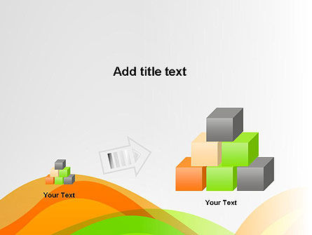 Green and Orange Curves PowerPoint Template Slide 13