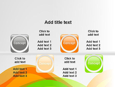 Green and Orange Curves PowerPoint Template Slide 18